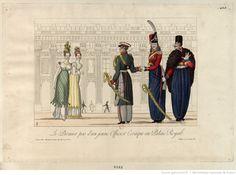 Le Premier pas d'un jeune Officier Cosaque au Palais-Royal : [estampe]   Gallica