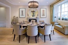 Empire table in sycamore stone Interior Design by the Decorative, Belgravia Photography by The Sofa & Chair Company