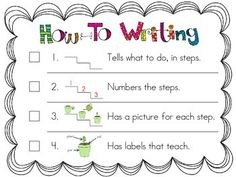HOW-TO WRITING - LUCY CALKINS UNITS OF STUDY: K, UNIT 3, SESSION 1 & 5