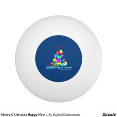 Merry Christmas Happy New Year Ping-Pong Ball