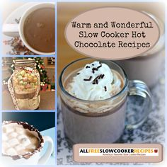 Inside our collection of easy slow cooker hot cocoa recipes, you'll find both classic and unusual hot chocolate recipes, including recipes for slow cooker white hot chocolate, slow cooker hot cocoa with mint, peanut butter, and even Nutella!