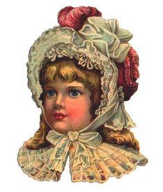 Victorian scrap- child in red hat Vintage Labels, Vintage Ephemera, Vintage Cards, Vintage Postcards, Victorian Pictures, Vintage Pictures, Vintage Images, Victorian Valentines, Victorian Christmas