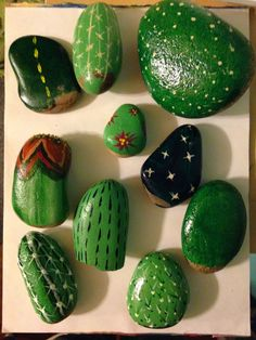Cute and creative rock painting ideas cactus appears to be a hot trend right now. tag: #diy #rockpainting #stone #ideas #kids