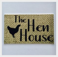 The Hen House Chicken Coop Rustic Hesh Hen House Sign Wall Plaque or Hanging Tin Signs, Wall Signs, Chicken Coop Signs, Local Hardware Store, Hen House, Vintage Fashion, Vintage Style, Hanging Signs, Home Signs