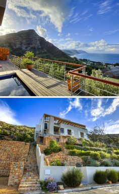 What's better than to relax in a pool while marveling at a breathtaking view of the sea and mountains! At Umnenge House in Simon's Town you can have all this and more. #simonstown #capetown #atthesea #seaview #mountainview #nature
