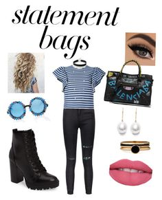 """Sin título #65"" by lerrianne on Polyvore featuring moda, Steve Madden, A-Morir by Kerin Rose, MSGM, American Apparel, Kendra Scott, Balenciaga, Express y statementbags"