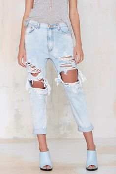 One Teaspoon Super Baggies - Anarchy - Clothes - #Denim