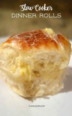 Slow Cooker Dinner Rolls - who knew you could use your slow cooker to bake rolls?!?! Great for the holidays when your oven is full.