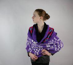 Upcycled Recycled Repurposed Sweater Shawl by vetabartholomew, $28.00