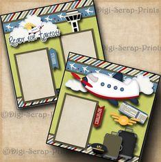 VACATION 2 premade scrapbook pages paper piecing FLYING layout 4 album DIGISCRAP | Crafts, Scrapbooking & Paper Crafts, Pre-Made Pages & Pieces | eBay! #vacationscrapbook