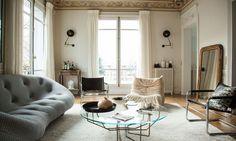 Un mélange de styles audacieux pour remettre au goût du jour un appartement familial. Visite bluffante chez Antonin et Elisa à Paris.