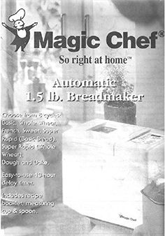 Magic Chef Bread Maker Manual with recipes Pumpkin Bagel Recipe, Harvest Bread, Bread Maker Recipes, Cut Recipe, Magic Chef, Food Substitutions, Pizza Dough, Helpful Hints, Manual