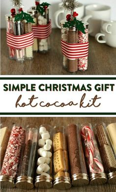Simple Christmas Gift: Hot Cocoa Kit - A Little Craft In Your Day - abcconcpt Diy Holiday Gifts, Handmade Christmas Gifts, Homemade Christmas, Simple Christmas, Xmas Gifts, Christmas Diy, Xmas Presents, Food Gifts, Craft Gifts