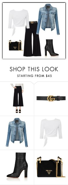 """""""Inverted Triangle Shape- Casual"""" by jess-thomas14 on Polyvore featuring Pinko, Gucci, LE3NO and Prada"""