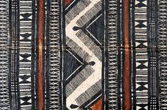 detail of tapa cloth, Fiji, early 20th century