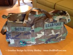 •• From Military Shirt to Duffel/Messenger Bag •• •••••••••••••••••••••••••••••••••••••••••••••••••••••••••••••••••••• Here is my Fourth of July Weekend Project. I started with my brother's BDU...