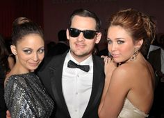 Joel Madden, Miley Cyrus and Nicole Richie at event of The 82nd Annual Academy Awards (2010)