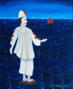 Alice Kaira: Meri, 1981, öljy kankaalle, 46x38 cm - Bukowskis