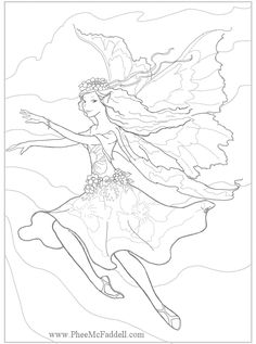 Enchanted Designs Fairy Mermaid Blog Free Fantasy Coloring Pages By Phee McFaddell