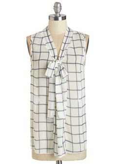 South Florida Spree Top in Plaid. Take your wardrobe on a vivacious vacation with this eye-catching sleeveless top! #white #modcloth