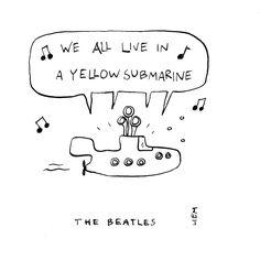 The Beatles. Yellow Submarine. 365 illustrated lyrics project, Brigitte Liem.