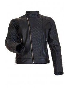 Motorcycle Black Crocker Unisex Leather Jacket