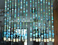 Items similar to Beaded curtain-Bohemian Curtain- Window curtain-beaded door curtain-hanging door beads-beaded wall hanging-bohemian wall art-door curtain on Etsy Beaded Door Curtains, No Sew Curtains, Rod Pocket Curtains, Hanging Curtains, Window Curtains, Cafe Curtains, Linen Curtains, Yellow Curtains, Cheap Curtains
