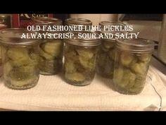 Safe Canning:  Old Fashioned Crispy Lime Pickles