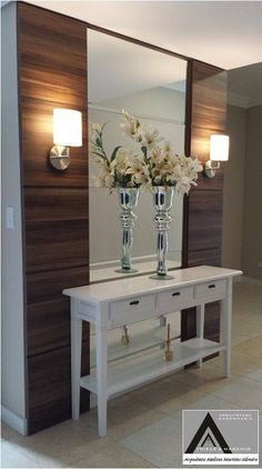 Check this, you can find inspiring Photos Best Entry table ideas. of entry table Decor and Mirror ideas as for Modern, Small, Round, Wedding and Christmas. Decoration Hall, Entryway Decor, Foyer Decorating, Interior Decorating, Design Hall, Garage Design, Entry Tables, Interior Design Boards, Home Decor Trends