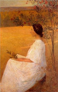 """Muse,"" by French Impressionist painter Henri Martin"