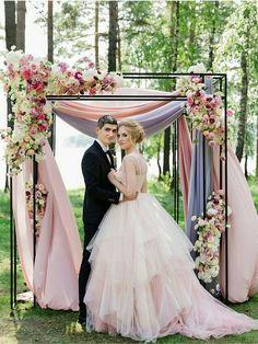 pastel fabric weddin
