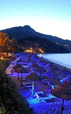 Porto Azzuro by night.. Zakynthos Island, Greece