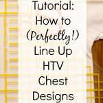 Tutorial: How to Use the Logo It to Line Up Heat Transfer Vinyl Chest Designs