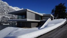 Haus am Walensee, Murg | Aicher Ziviltechniker GmbH Art And Architecture, Ikea, Modern Homes, House, Inspiration, Architecture, Houses, Contemporary Homes, Tiny House Cabin