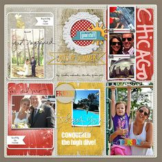 Love the photo strip with the Chicago title