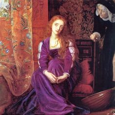 "silenceforthesoul: ""Arthur Hughes - The Pained Heart, 1868 "" Gabriel Rossetti, John Everett Millais, Pre Raphaelite Brotherhood, Bullen, Portraits, Flash Art, Classical Art, Old Art, Beautiful Paintings"