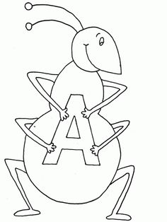 Ant coloring page Download Free Ant coloring page for kids