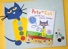 Fun with Pete the Cat and buttons!