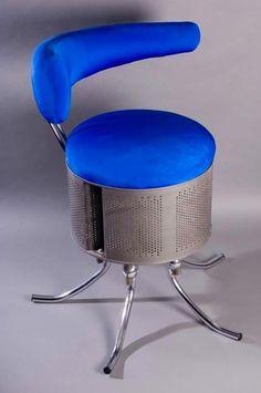 Recycled washing machine drum.