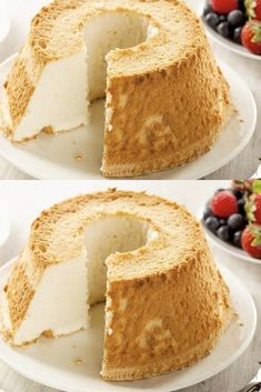 Ultra soft angel cake with Easy Recipe pies pies recipes dekorieren rezepte Easy Bread Recipes, Banana Bread Recipes, Sweet Pumpkin Recipes, Cheesecake Recipes, Dessert Recipes, Philadelphia Torte, Angel Cake, Pastry Cake, Vanilla Cake