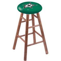 "Holland Bar Stool NHL 30"" Bar Stool with Cushion NHL Team: Dallas Stars, Finish: Medium"
