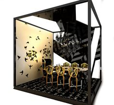 Dining By Design Installation \ Hirsch Bedner Associates
