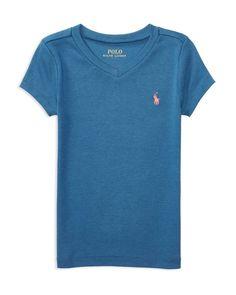 Ralph Lauren Childrenswear Girls' V Neck Tee - Little Kid