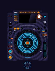 Pioneer CDJ 2000 Remix Art Contest Djs love art too and artists love music. Pioneer Cdj 2000, Pioneer Dj, Dj Remix, Electronic Music, Muse, Tables, Audio, Artists, Design