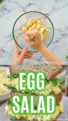 Healthy Desayunos, Easy Healthy Recipes, Lunch Recipes, Easy Meals, Cooking Recipes, Healthy Egg Salad, Easy Egg Recipes, Best Egg Salad Recipe, Simple Egg Salad Recipe