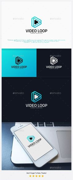 Video Loop Infinite Media - Logo Design Template Vector #logotype Download it here: http://graphicriver.net/item/video-loop-infinite-media-logo/12860292?s_rank=1746?ref=nesto