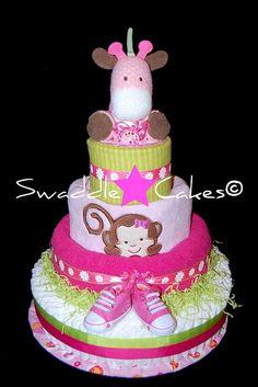 Sweet Safari Diaper Cake | Flickr - Photo Sharing!