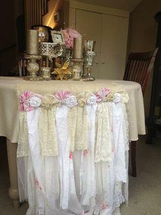 Cream Burlap Table Runner Shabby Chic Southern by FarmHouseFare, $189.00
