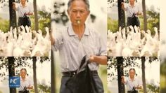Never too old to be young. 71-year-old goose keeper becomes instant sensation on China's social media, after photos of him were posted online.