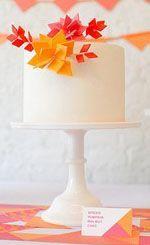 Pink + Orange cake by Nine Cakes